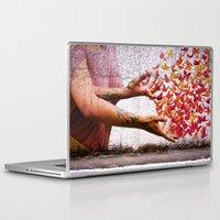 butterflies Laptop & iPad Skins featuring Butterflies by Lia Bernini