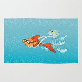 Goldfish & Octopus Rug