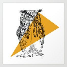 UHU - Eurasian Eagle Owl (Bubo bubo) Art Print