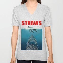 Straws Unisex V-Neck