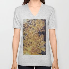 Rusty Metal Abstract Texture Unisex V-Neck