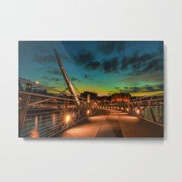 Derry Peace Bridge by Zolita Mykytyn Metal Print