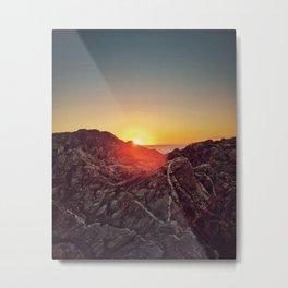 Peel Sunset Metal Print