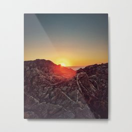 Peel Sunset Metal Print
