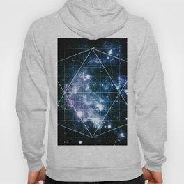 Galaxy Sacred Geometry Deep Ocean Blue Hoody