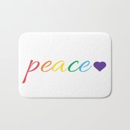 Rainbow Peace Bath Mat