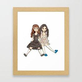 Marissa and Karissa Framed Art Print