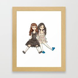 Marissa and Karissa Framed Art Print