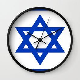 Flag of Israel Wall Clock