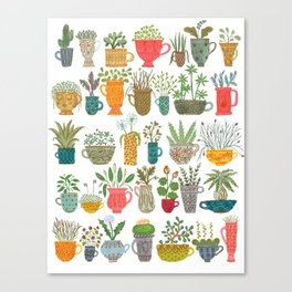 Teacup Garden Canvas Print