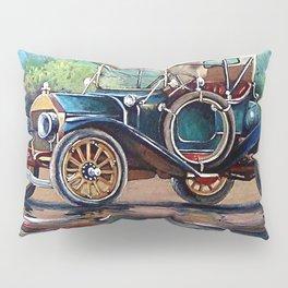 Old auto, retro car, oil paintings Pillow Sham