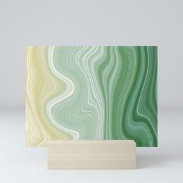 Green Gradient Marble Mini Art Print