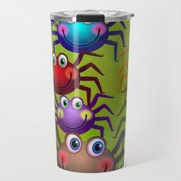Cartoon Spiders Travel Mug