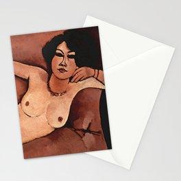 "Amedeo Modigliani ""Nude on a Sofa (Almaiisa)"" Stationery Cards"