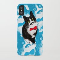 muppet iPhone & iPod Cases featuring Muppet the Moustached Cat by EggsBFF