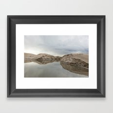 the winter storm Framed Art Print
