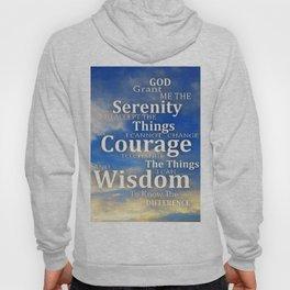 The Serenity Prayer - White Dove Art - Sharon Cummings Hoody
