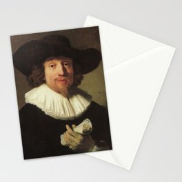 Rembrandt - Portrait of a Musician with a Sheet of Music in his Hand Stationery Cards