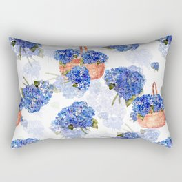Cape Cod Hydrangeas and Baskets Rectangular Pillow