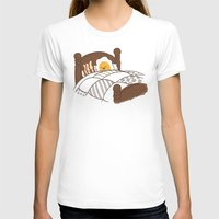 bed T-shirts featuring Breakfast In Bed  by Terry Fan