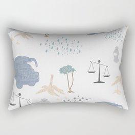 Light Blue - YangTia's Life Rectangular Pillow