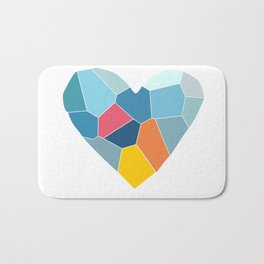Color of Love - Heart abstract background Bath Mat
