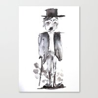chaplin Canvas Prints featuring CHAPLIN by Halley's Coma