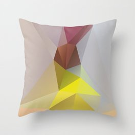 Sari – modern polygram illustration, wall art print Throw Pillow