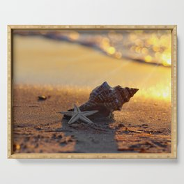 Golden Summer on the Beach Serving Tray