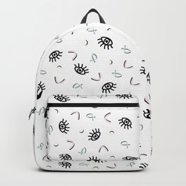 Eye Spy - Funky Memphis 80's Pattern Backpack