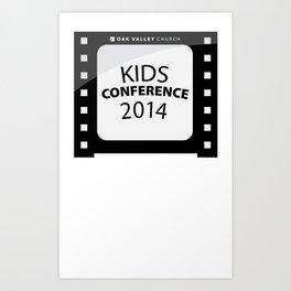 Kids Conference Art Print
