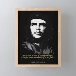 Che Guevara Quote Framed Mini Art Print