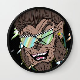 Hungry Like the Werewolf Wall Clock