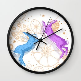 Mad March Hares Wall Clock