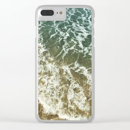 Beach Waves Clear iPhone Case
