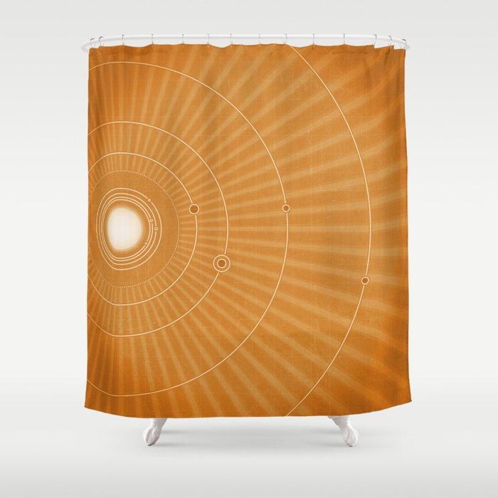Solar System Hot Shower Curtain