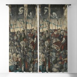 Lucas Cranach the Elder - Crucifixion of Christ Blackout Curtain