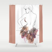 chic Shower Curtains featuring Chic by Sarah Soh
