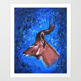 Vanishing Kudu Art Print