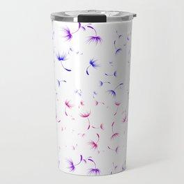 Dandelion Seeds Bisexual Pride (white background) Travel Mug