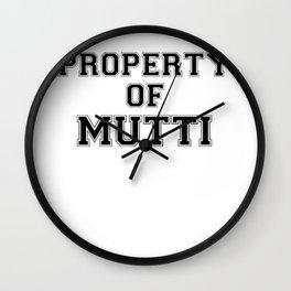 Property of MUTTI Wall Clock