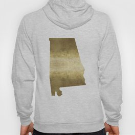 alabama gold foil state map Hoody