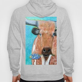 Longhorn with Bluebonnet Hoody