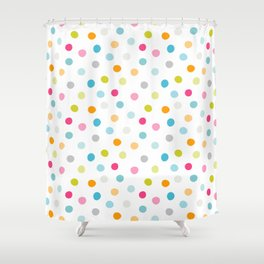 Chickweed Mid Dots Shower Curtain