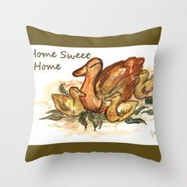 Home Sweet Home - Ducks Sleeping Throw Pillow