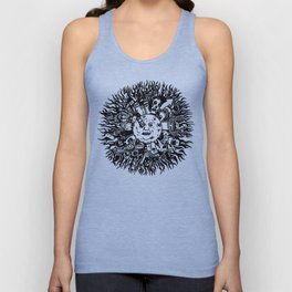 Monster mandala moon Unisex Tank Top