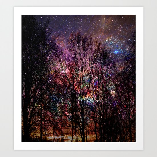 Life in the forest Art Print