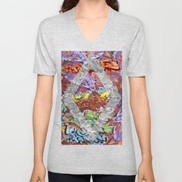 Graffiti Unisex V-Neck
