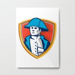 Napoleon Bonaparte Bicorn Hat Shield Retro Metal Print