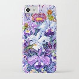 Orchids & Hummingbirds iPhone Case
